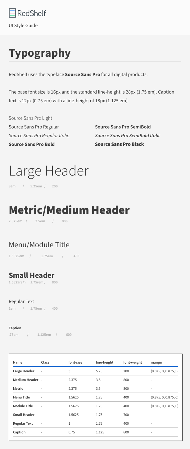 Design System - Typography